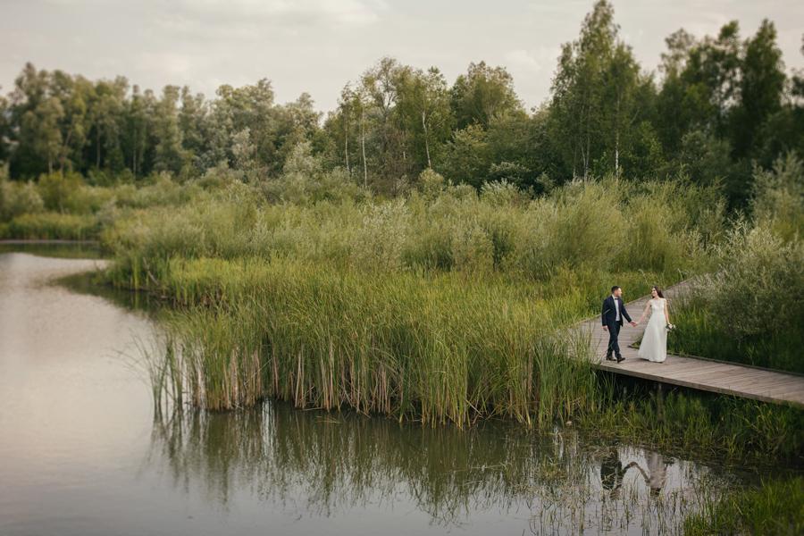 plenerowe zdjęcia ślubne Nowy Sącz