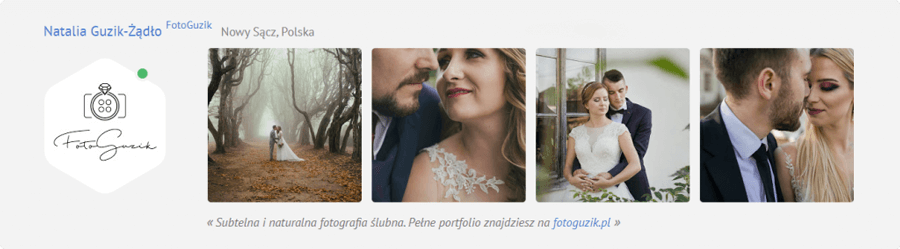 Profil fotografa FotoGuzik na portalu MyWed